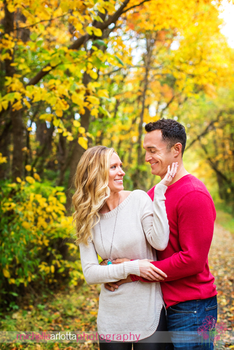 new jersey fall engagement session
