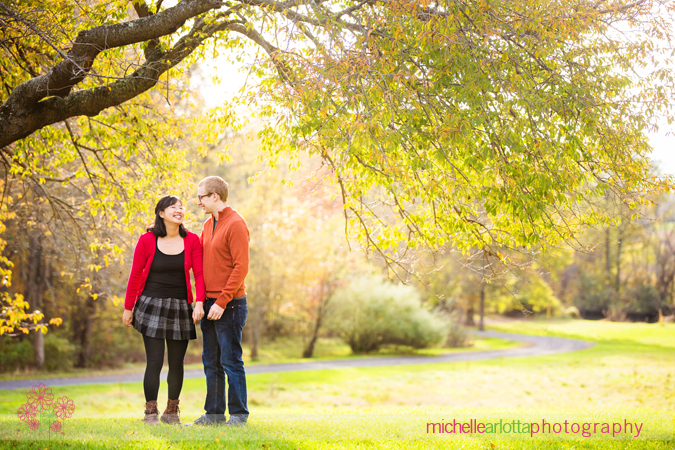 colonial park engagement session