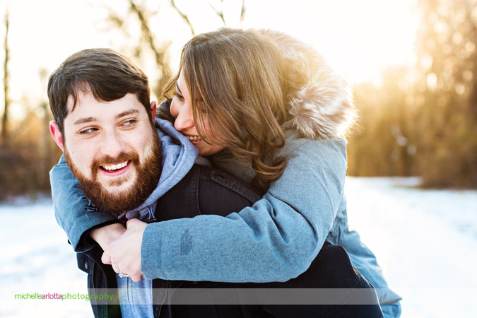 winter engagement session new jersey