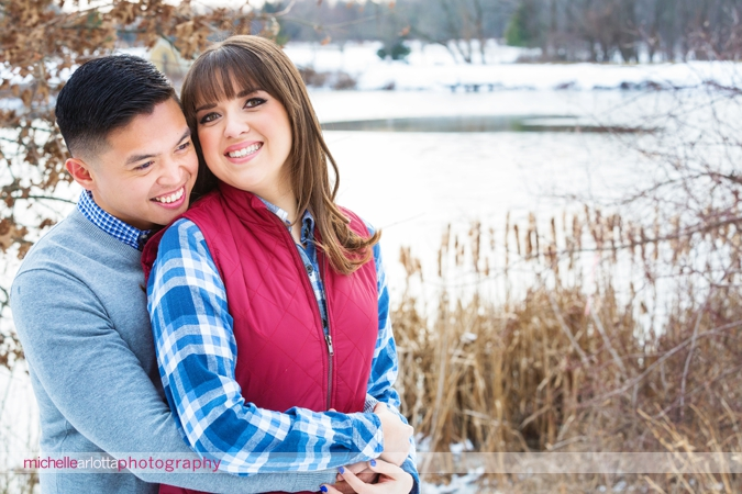 New Jersey winter engagement session