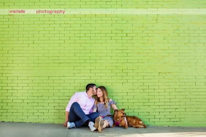 asbury park engagement session with dog