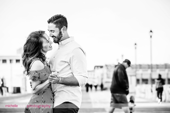 asbury park boardwalk engagement session