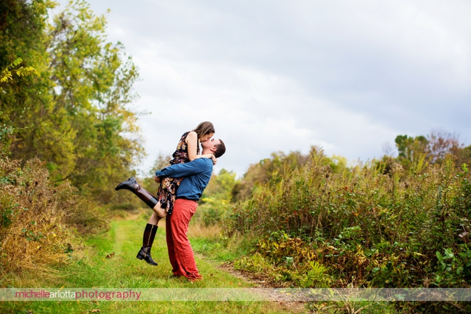 Frenchtown New Jersey fall engagement session