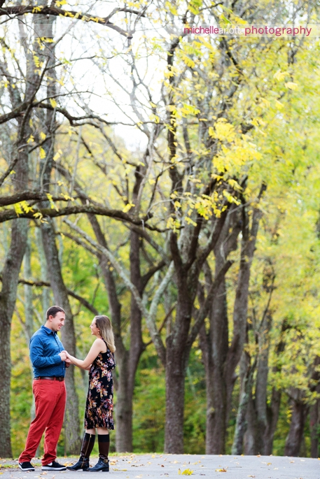 Tinicum park upper black eddy fall engagement session michelle Arlotta photography