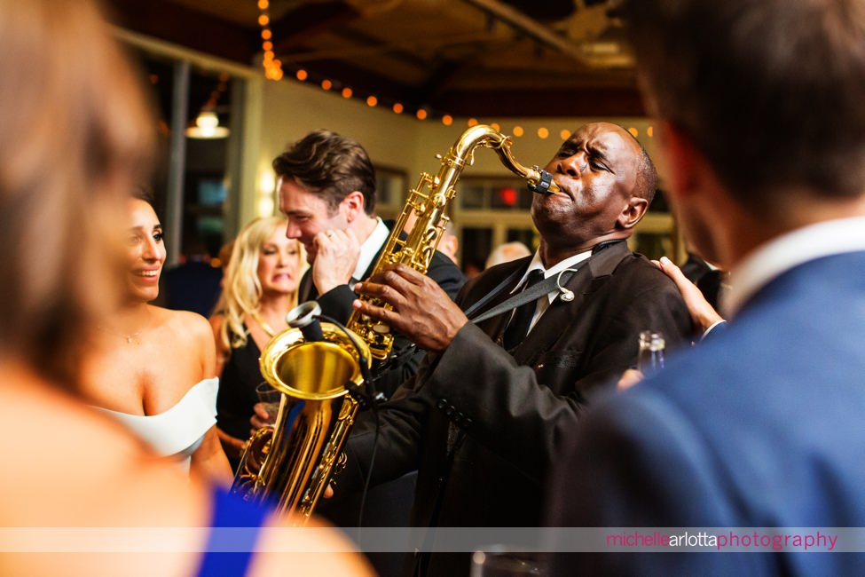 landmark venues Liberty House summer wedding new jersey reception with Time Machine band